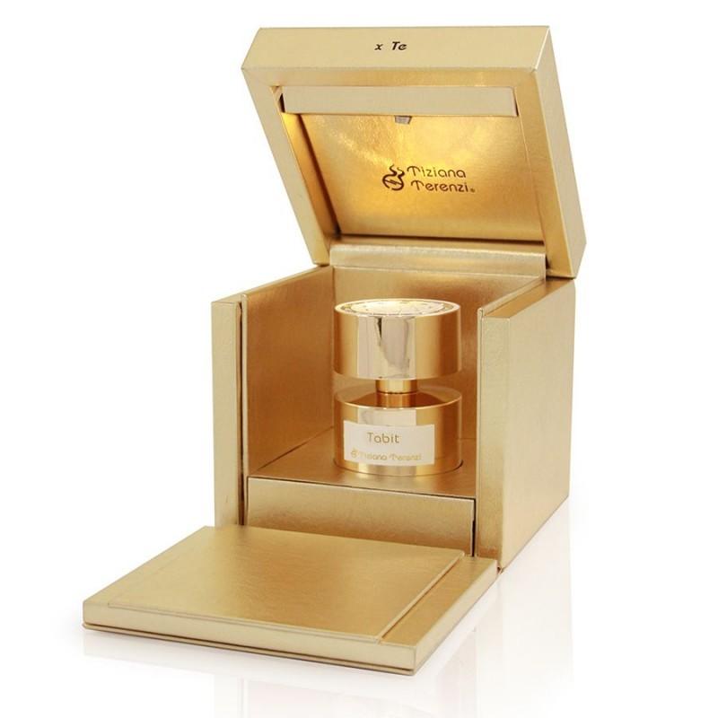 TABIT niché parfém z kolekce Luna Stars. Luxusní kožená dárková krabice s jantarovým světýlkem.