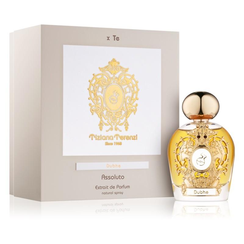 DUBHE ASSOLUTO niche parfém ze serie Assoluto Luna Star. Krásný flakon je uložen do červeného saténu v dárkové kazetě.