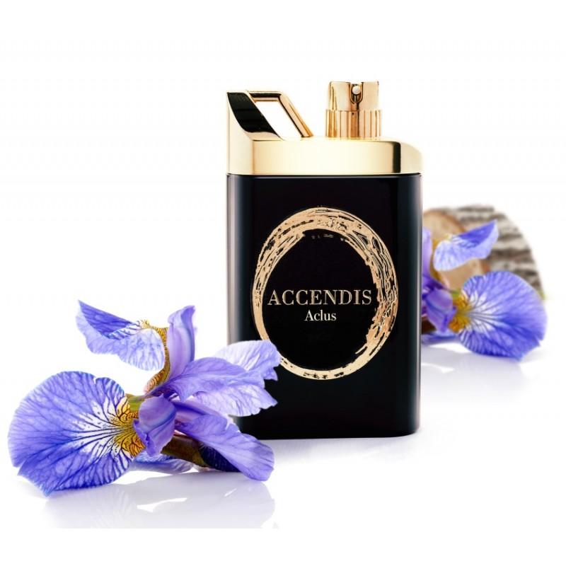 niché unisexový parfém Aclus od Accendis s vonými essensemi iris, tolu, cistus, angelica davana, cardamom