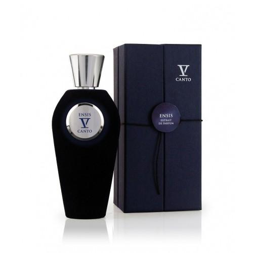 ENSIS niche parfém od V Canto. Je to extrakt z esencí bergamotu, macešky, černého rybízu a pačuli.