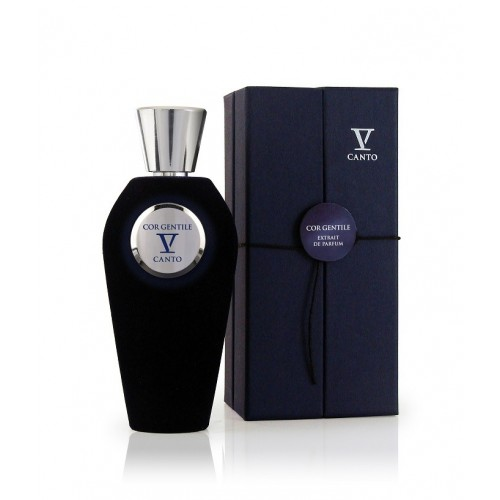COR GENTILE extrakt parfému od V Canto. Niché parfém v luxusním flakonu zahaleného do sametu. Esence myrhy, pačuli a kamélie.